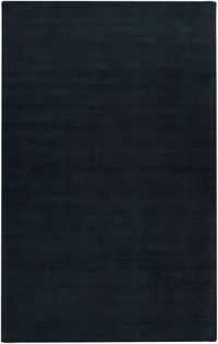 Surya Mystique Solid 8' x 11' Area Rug in Black