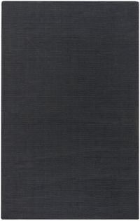 Surya Mystique Solid 9' x 13' Area Rug in Charcoal