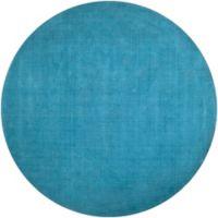 Surya Mystique Solid 9'9 Round Area Rug in Blue