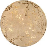 Surya Tamira Floral 8' Round Area Rug in Brown/Yellow