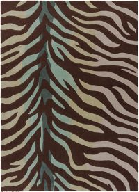 Surya Cosmopolitan Animal 8' x 11' Area Rug in Brown/Teal