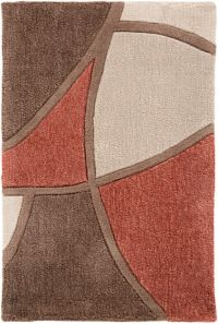 Surya Cosmopolitan Modern 2' x 3' Accent Rug in Red/Brown