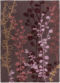 Surya Cosmo Ultra Floral 8' x 11' Hand Tufted Area Rug in Red/Purple