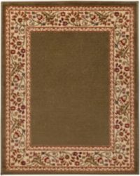 Surya Midtown Floral Border 2'2 x 3'3 Accent Rug in Brown
