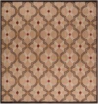Surya Modern Ikat 7'6 Square Indoor/Outdoor Rug in Brown