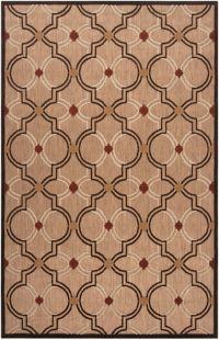 Surya Modern Ikat 8'8 x 12' Indoor/Outdoor Area Rug in Brown