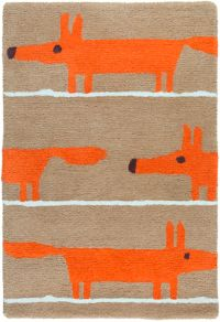 Surya Scion Animal 2' x 3' Accent Rug in Orange/Brown