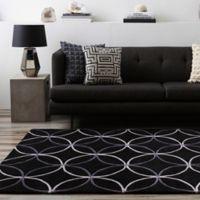 Surya Cosmopolitan Modern 9' x 13' Area Rug in Black
