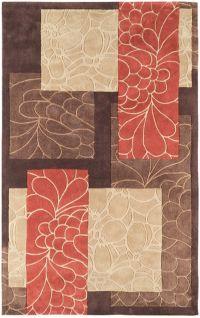 Surya Cosmopolitan Floral 9' x 13' Area Rug in Rust/Brown