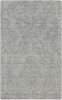 Surya Etching Solids and Tonals 2' x 3' Handcrafted Accent Rug in Grey