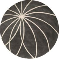 Surya Forum Modern 4' Round Area Rug in Charcoal