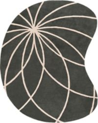 Surya Forum Modern Kidney-Shaped 8' x 10' Area Rug in Charcoal
