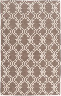 Surya Gable Moroccan Trellis 6' x 9' Area Rug in Neutral/Brown