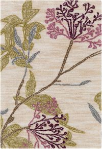Surya Amelia Floral Hand-Tufted 2' x 3' Area Rug in Purple