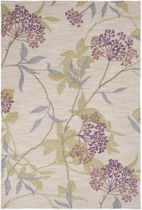 Surya Amelia Floral Hand-Tufted 5' x 7'6 Area Rug in Purple