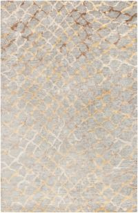 Surya Platinum 2' x 3' Hand Knotted Accent Rug in Grey