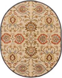 Surya Caesar Classic Oval 8' x 10' Area Rug in Ivory/Rust