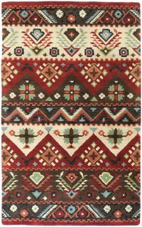 Surya Dream Southwest 3'3 x 5'3 Handcrafted Area Rug in Red/Brown