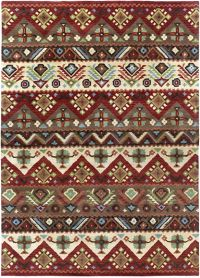 Surya Dream Southwest 8' x 11' Handcrafted Area Rug in Red/Brown