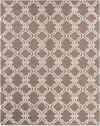 Surya Gable Moroccan Trellis 8' x 10' Area Rug in Neutral/Brown