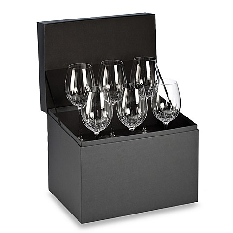 image of Waterford® Lismore Essence Goblet Deluxe Gift Box Buy 5 Get 6 Value Set