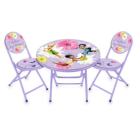 Disney® Fairies Table and Chairs Set - Bed Bath & Beyond