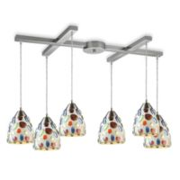ELK Lighting Gemstone 6-Light Pendant Ceiling Fixture