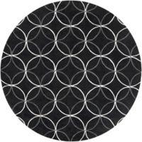 Surya Cosmopolitan Modern 8' Round Area Rug in Black