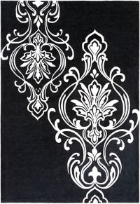 Surya Modern Classics Medallion 9' x 13' Handcrafted Area Rug in Black/Ivory