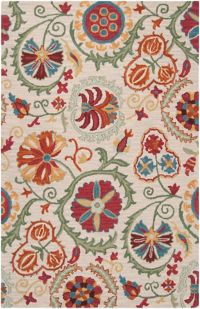 Surya Centennial Floral 2' x 3 Handcrafted Accent Rug in Brown/Red