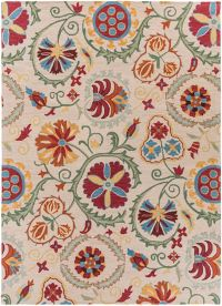 Surya Centennial Floral 8' x 11' Handcrafted Area Rug in Brown/Red