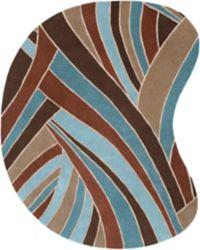 Surya Forum Modern Kidney 8' x 10' Handcrafted Area Rug in Brown/Blue