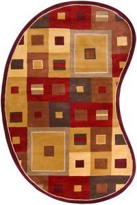Surya Forum Kidney 6' x 9' Area Rug in Tan/Rust