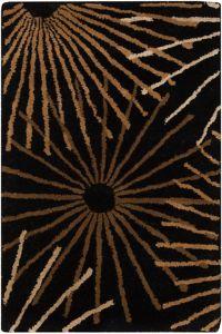 Surya Forum Starburst 2' x 3' Accent Rug in Black/Brown