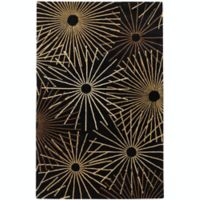 Surya Forum Starburst 6' x 9' Area Rug in Black/Brown