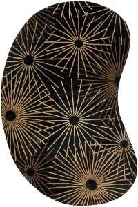 Surya Forum Modern Kidney 6' x 9' Area Rug in Black/Brown