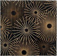 Surya Forum Starburst 6' Square Area Rug in Black/Brown