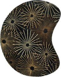 Surya Forum Modern Kidney 8' x 10' Area Rug in Black/Brown
