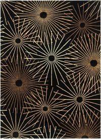 Surya Forum Starburst 8' x 11' Area Rug in Black/Brown