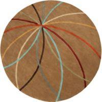 Surya Forum Modern 4' Round Area Rug in Tan