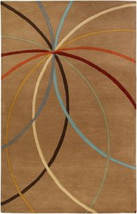 Surya Forum Modern 7'6 x 9'6 Area Rug in Tan