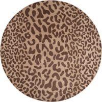 Surya Athena Animal Print 9'9 Round Rug in Brown