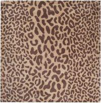 Surya Athena Animal Print 9'9 Square Rug in Brown