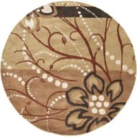 Surya Athena Floral Abstract 6' Round Rug in Brown/Neutral