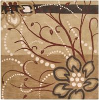 Surya Athena Floral Abstract 6' Square Rug in Brown/Neutral