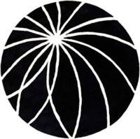 Surya Forum Modern 6' Round Area Rug in Black/Neutral