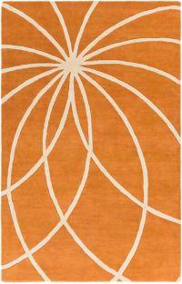 Surya Forum Modern 9' x 12' Area Rug in Orange/Neutral