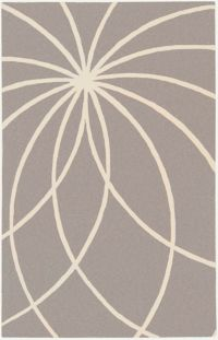 Surya Forum Modern 6' x 9' Area Rug in Grey/Cream