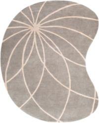 Surya Forum Modern Kidney-Shaped 8' x 10' Area Rug in Grey/Cream