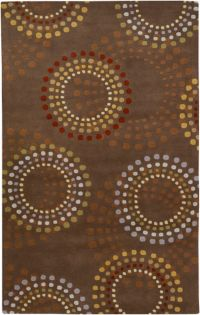 Surya Forum Bloom 6' x 9' Area Rug in Brown/Red